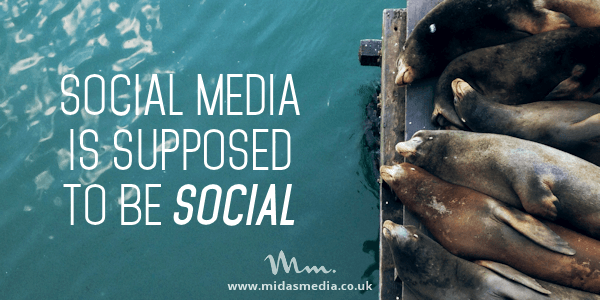 social media is supposed to be social