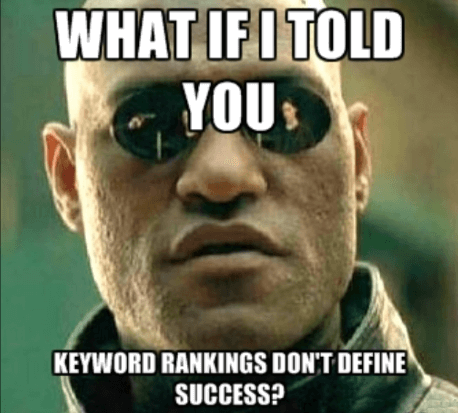 Do Keyword Rankings Mean Success?