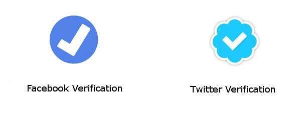 Facebook and Twitter Verification Badges