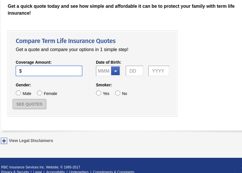 RBC quote form