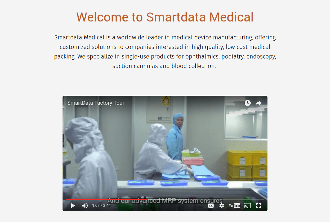 Smartdata medical video