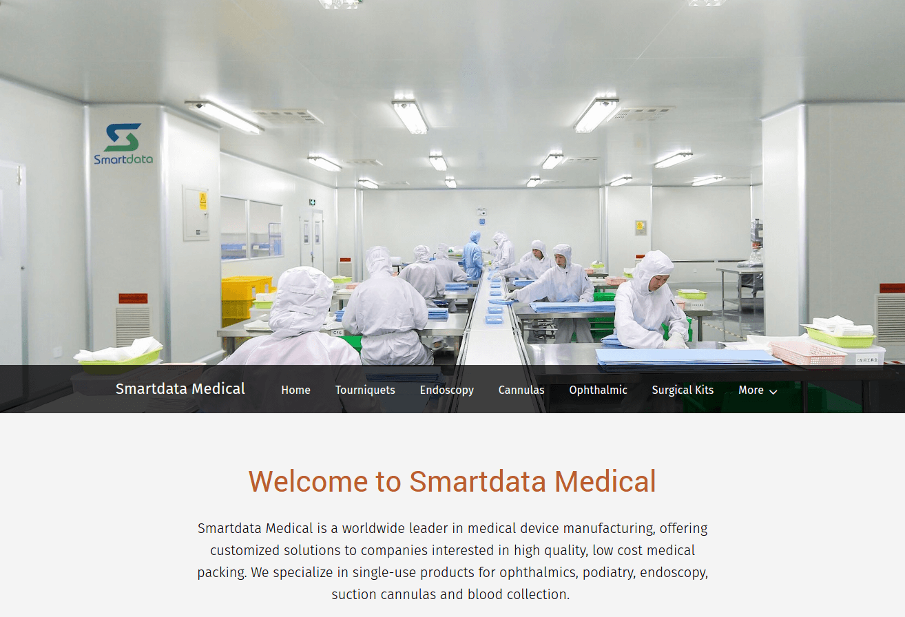 smartdata medical landing page above the fold