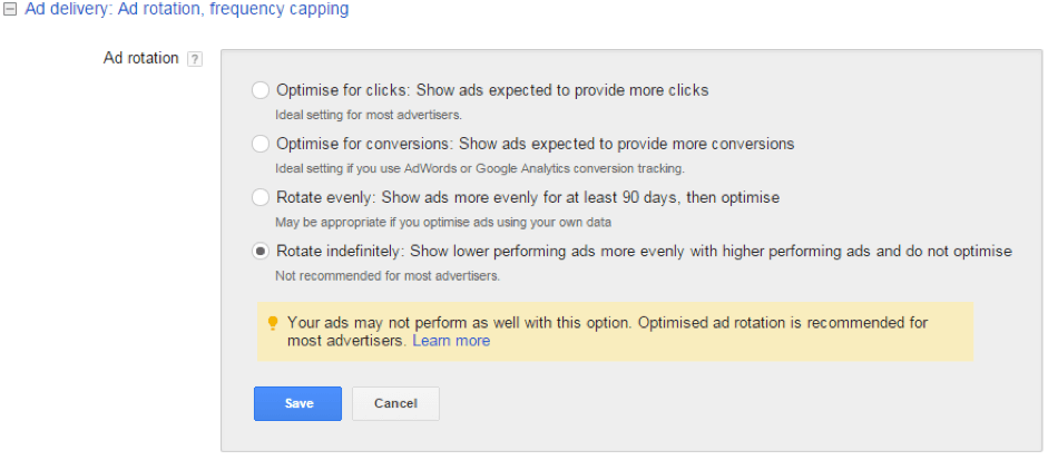 AdWords Warning
