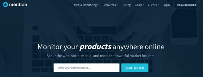 monitor your products anywhere online with Mention